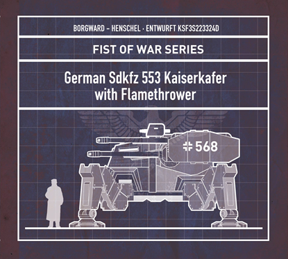 Picture of German Sdkfz 553 Kaiserkafer with Flamethrower
